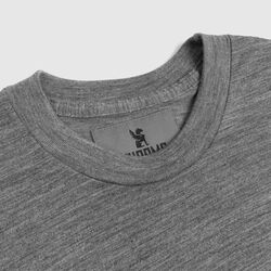 Delancey Merino Long Sleeve Tee in Charcoal - small view.