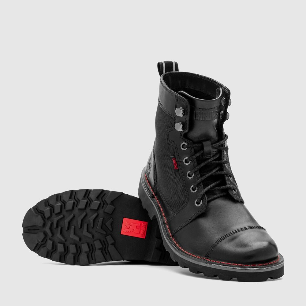 503 Combat Boot in Black - large view.