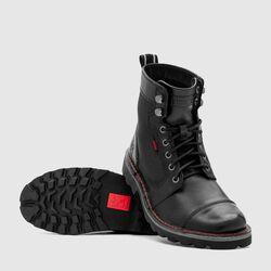 503 Combat Boot in Black - small view.