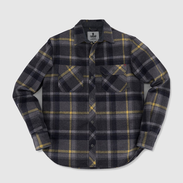 Woven Workshirt in Wool Plaid - medium view.
