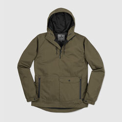 Skyline Windcheater Anorak in Military Olive - small view.
