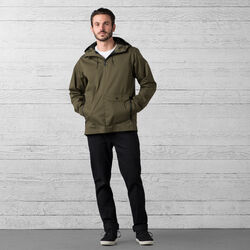 Skyline Windcheater Anorak in Military Olive - wide-hi-res view.