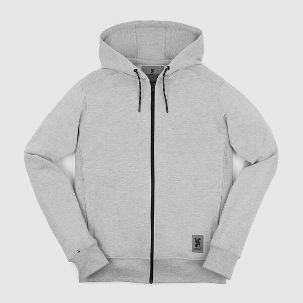 Essex Custom Zip Hoodie in Athletic Heather - medium view.