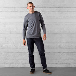 Delancey Merino Long Sleeve Tee in Charcoal - wide-hi-res view.