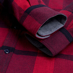 Woven Workshirt in Red / Navy Plaid - small view.