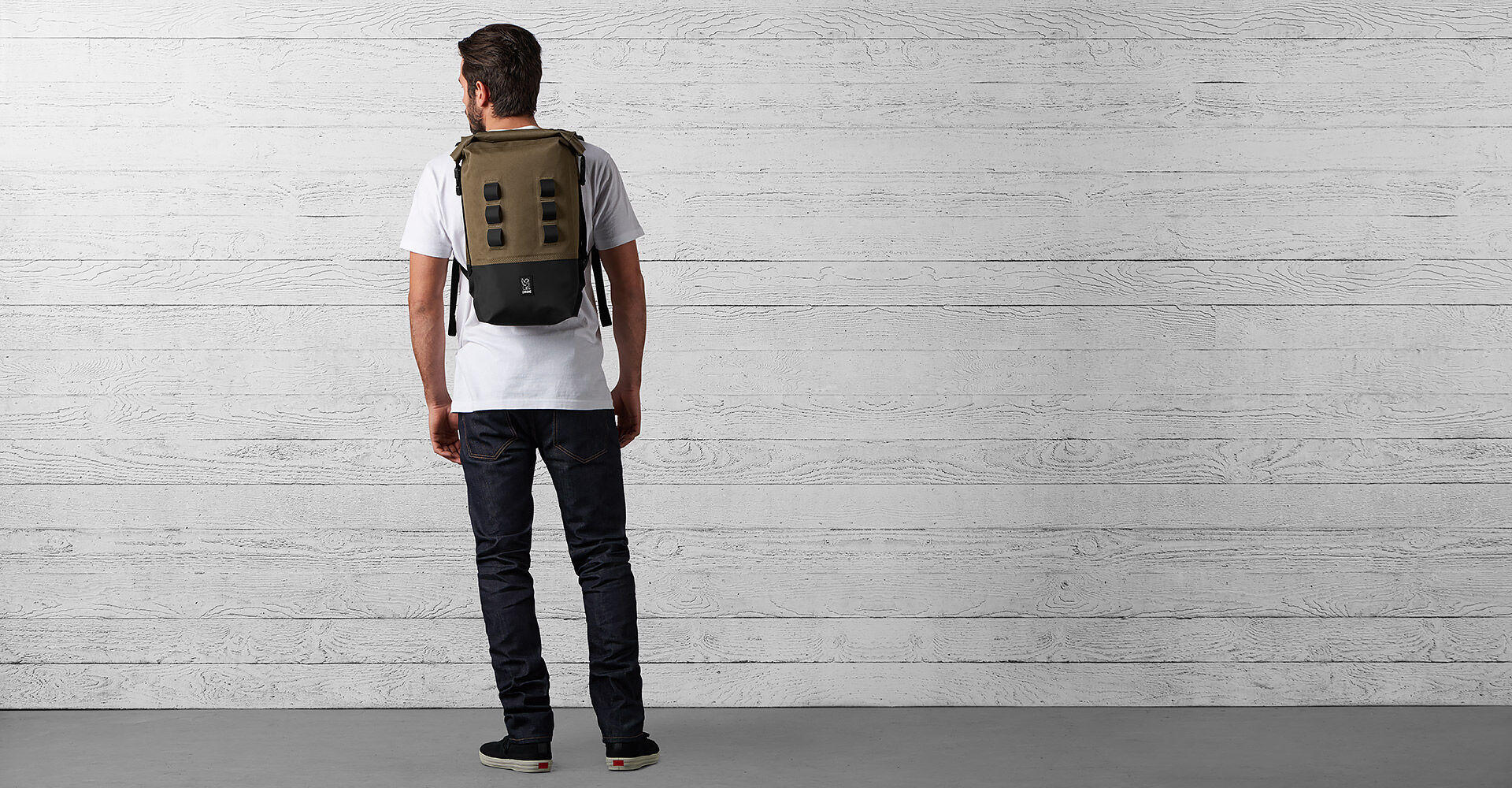 Urban Ex Rolltop 18L Backpack in Ranger / Black - wide view.