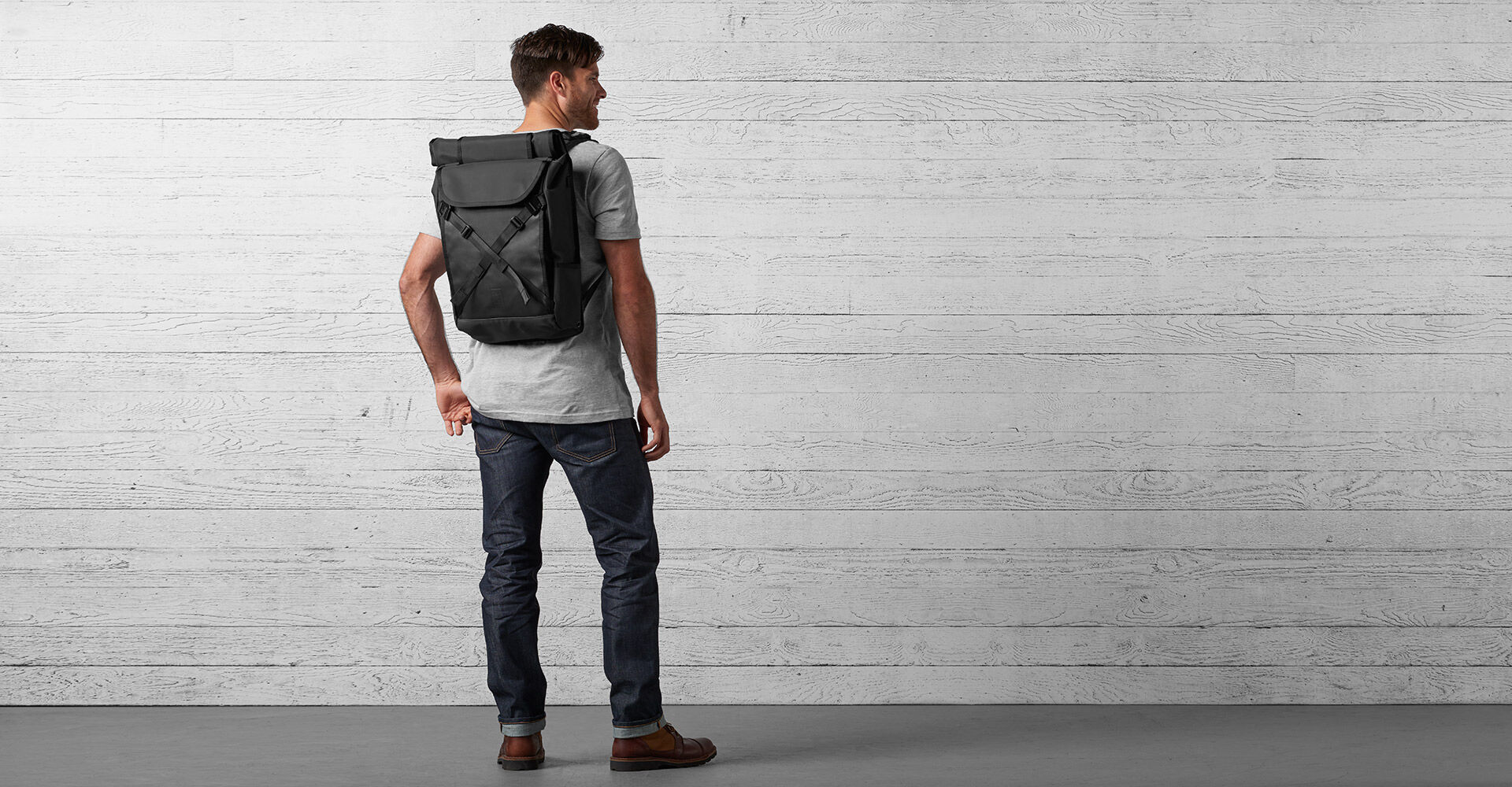 BLCKCHRM™ Bravo 2.0 Backpack in Blckchrm - wide view.