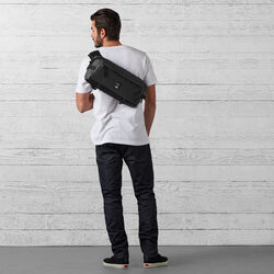 The Welterweight Kadet Messenger Bag in Charcoal / Black - wide-hi-res view.