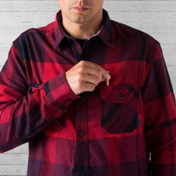 Woven Workshirt in Red / Navy Plaid - wide-hi-res view.