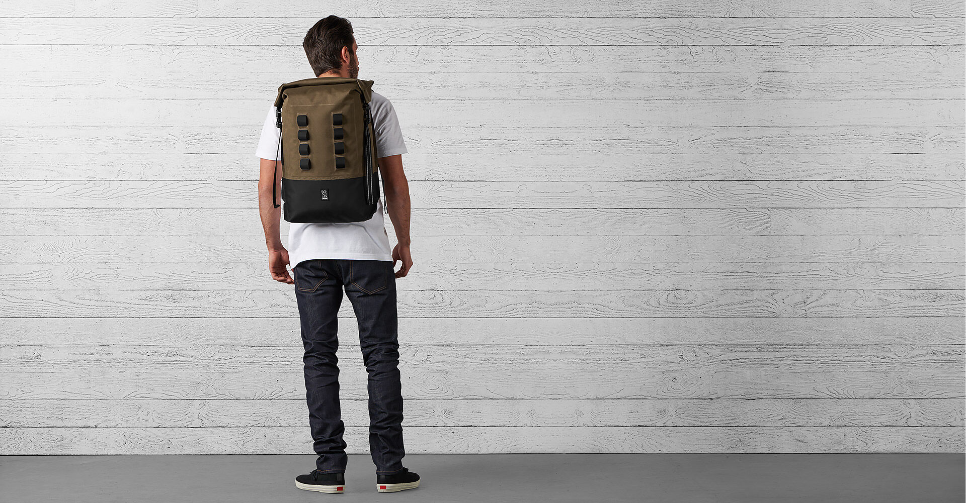 Urban Ex Rolltop 28L Backpack in Ranger / Black - wide view.