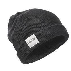 Wool Cuff Beanie in Black - hi-res view.