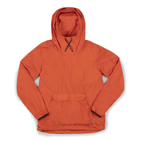 Packable Buckman Anorak in Mecca Orange - hi-res view.