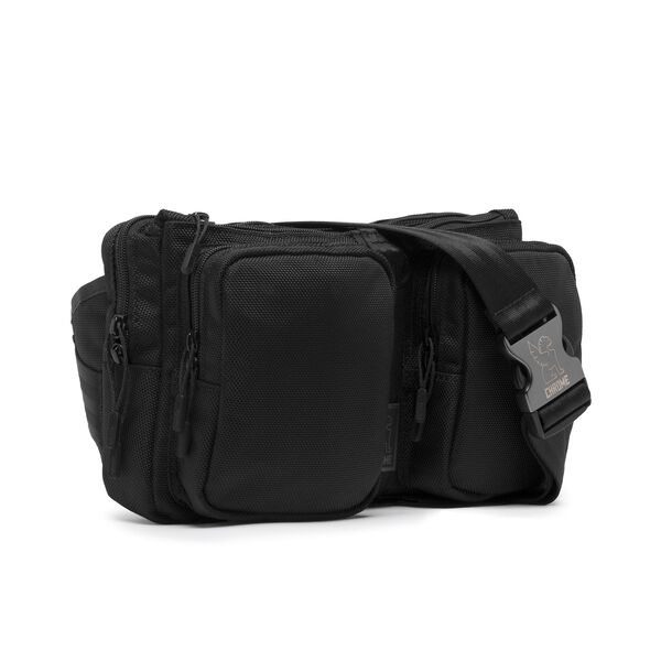 MXD Notch Sling Bag in All Black - hi-res view.