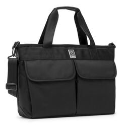 Juno Travel Tote Bag in All Black - hi-res view.