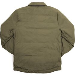 Two Way Insulated Shacket in Black / Dusty Olive - hi-res view.