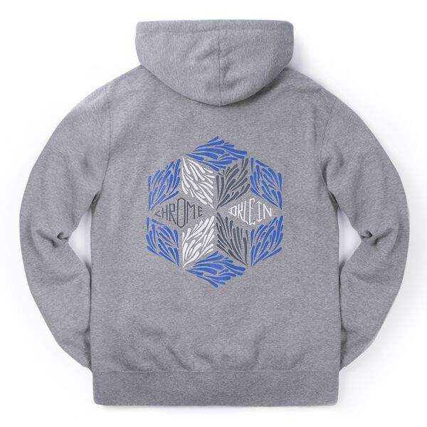 DKlein Graphic Hoodie in Heather Storm - medium view.