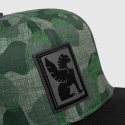 Baseball Cap in Camo Griffin - small view.