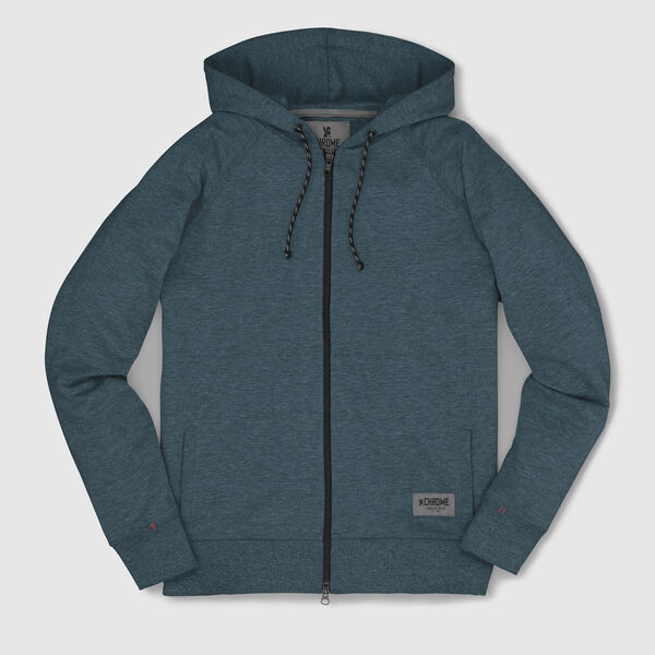 Hawthorne Zip Hoodie in Indigo - medium view.