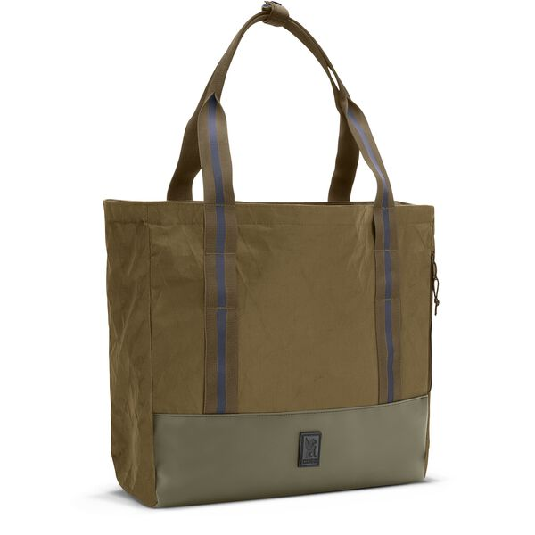 Civvy Messenger Tote in BLCKCHRM Stone Grey - hi-res view.
