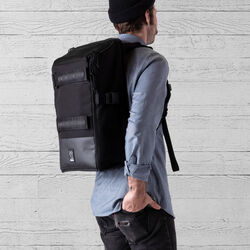 Niko Camera Backpack in All Black - small view.