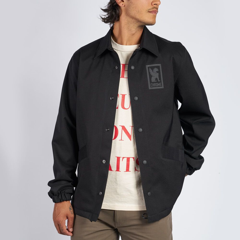 Masonic Coaches Jacket in Black - hi-res view.