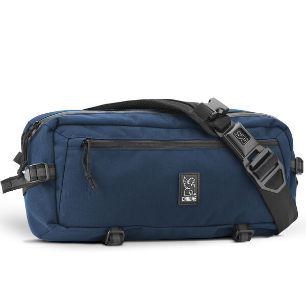 Kadet Nylon Sling Bag in Navy / Aluminum - hi-res view.