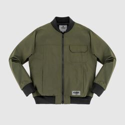 Utility Bomber Jacket in Olive - small view.