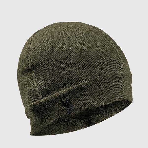 Merino Beanie in Olive Leaf - medium view.