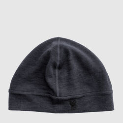 Merino Beanie in Charcoal - small view.