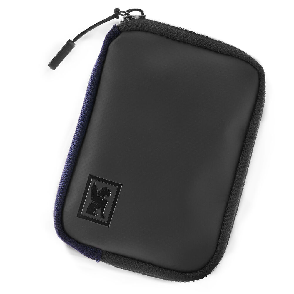 Zip Wallet in Navy - hi-res view.
