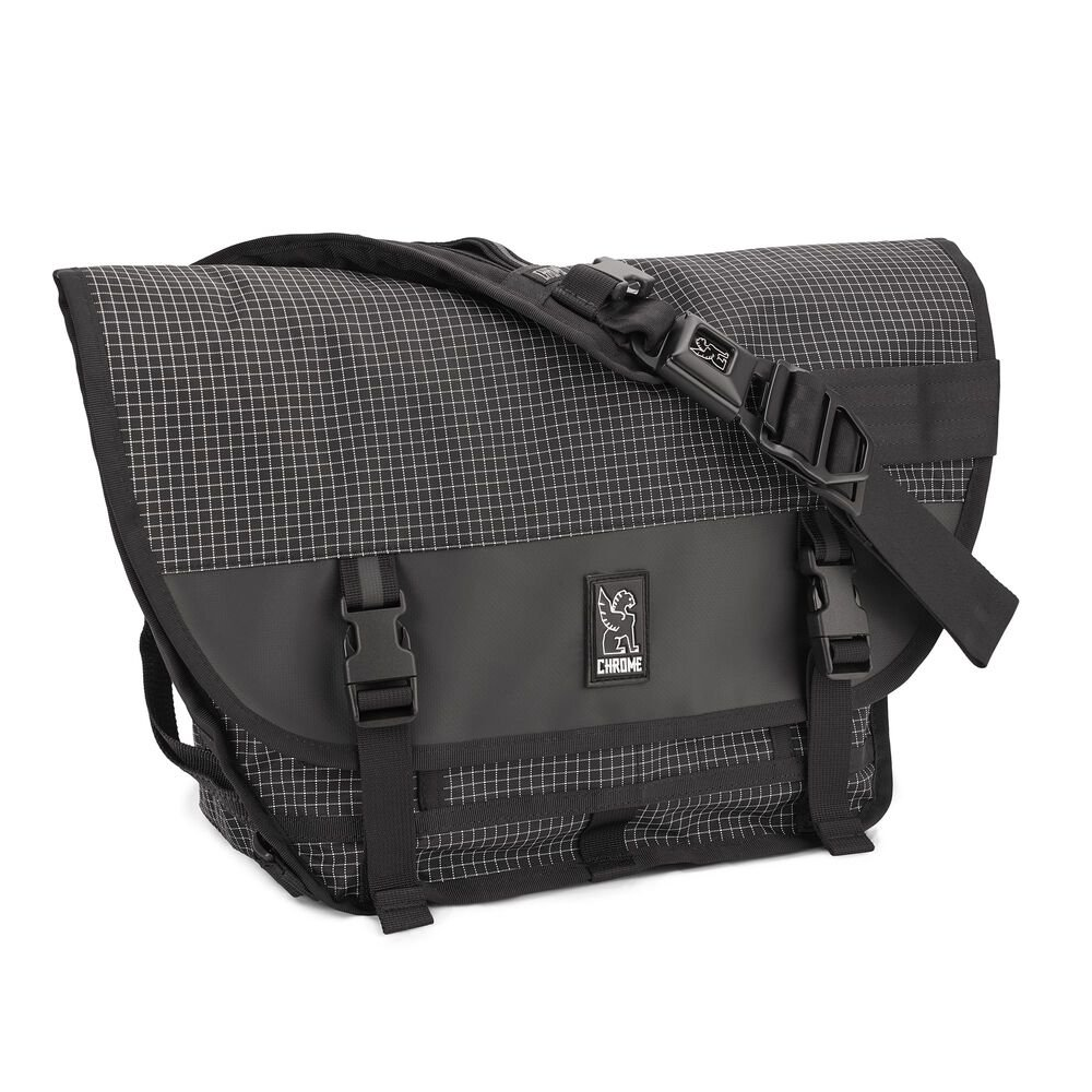 Mini Metro Messenger Bag in Grid - hi-res view.