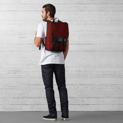 Soma Backpack in Brick / Black - wide-hi-res view.