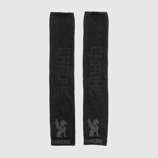 Merino Arm Warmers in Black / Black - medium view.