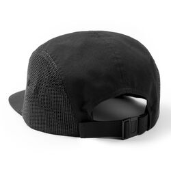 DKlein Five Panel Hat in Black - hi-res view.