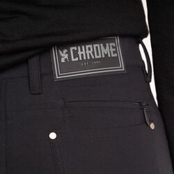 Women's Madrona 5 Pocket Pant in Black - hi-res view.