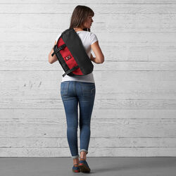 Mini Metro Messenger Bag in Black / Red - wide-hi-res view.