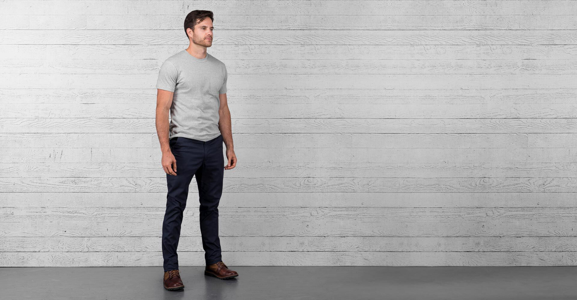 Rivington Chino Pant in Navy - wide view.