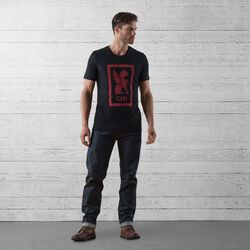 Chicago Hub Tee in Black / Red Graphic - wide-hi-res view.