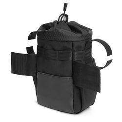 Doubletrack Feed Bag in Black - hi-res view.