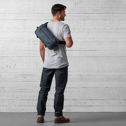 Kadet Nylon Messenger Bag in Indigo - wide-hi-res view.