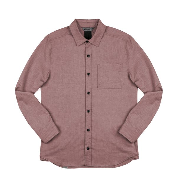 Stretch Chambray Workshirt in Andorra / Dune - medium view.