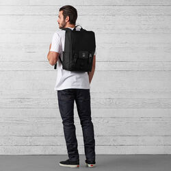 Soma Backpack in All Black - wide-hi-res view.