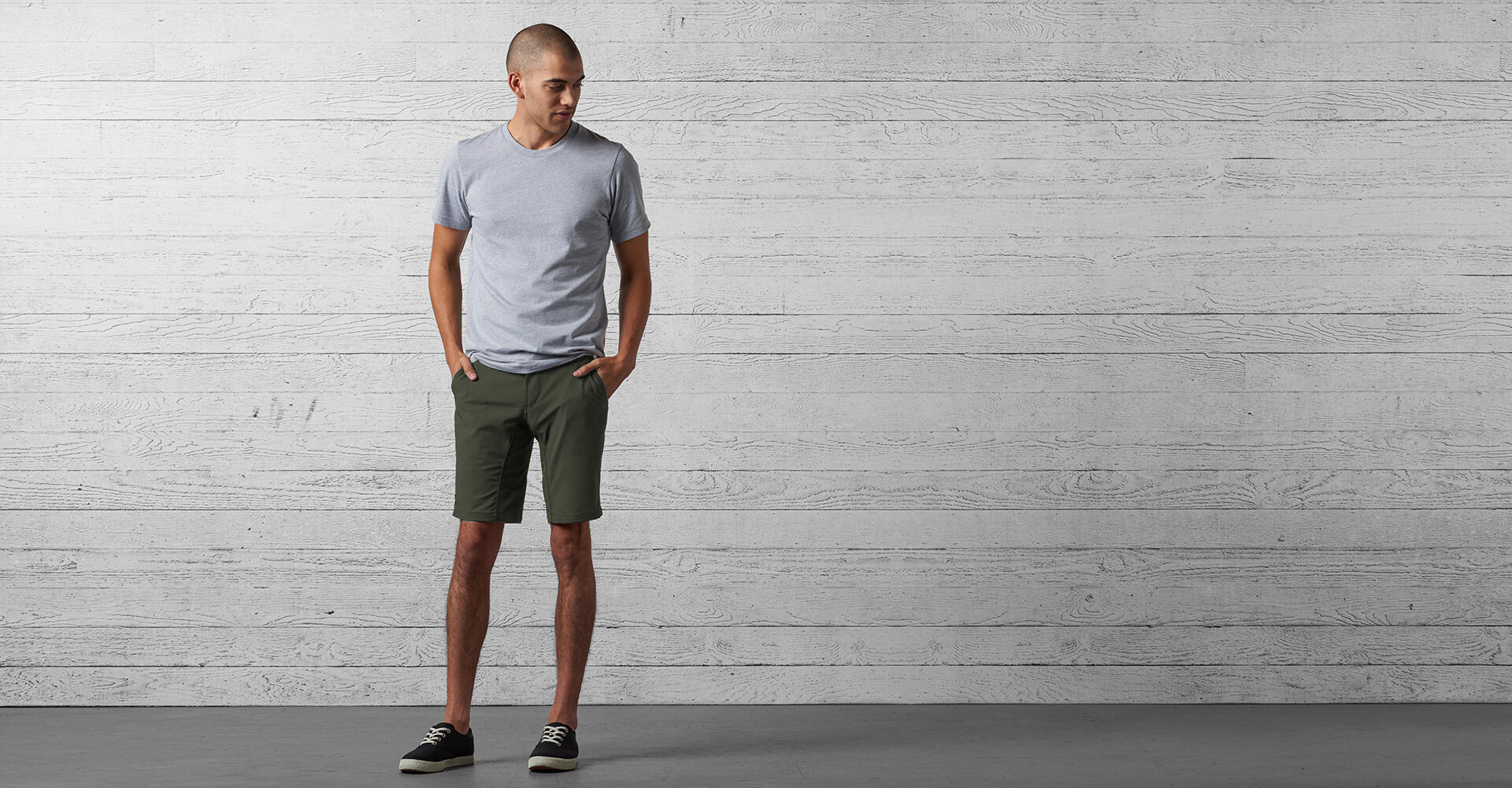 Folsom Short 2.0 in Military Olive - wide view.