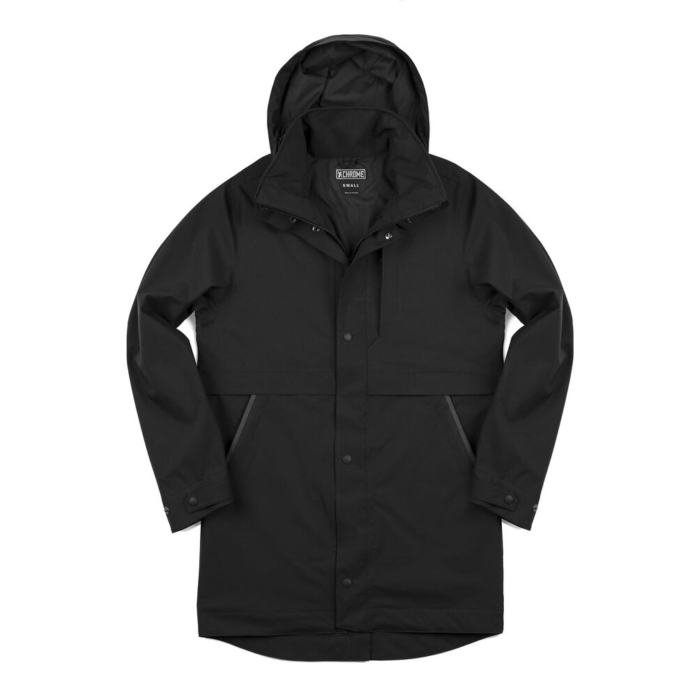 Stanton Rain Trench Jacket in Black - large view.