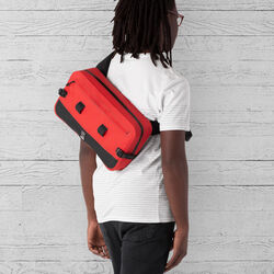 Urban Ex 10L Sling Bag in Red / Black - hi-res view.
