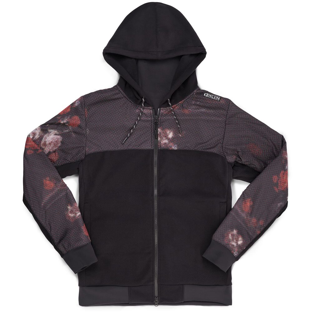 DKlein Wind Block Zip Hoodie in Black - hi-res view.