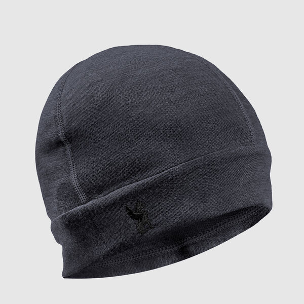 Merino Beanie in Charcoal - medium view.