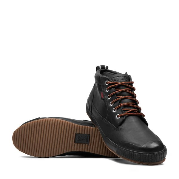 Storm 415 Workboot in Black Leather / Gum - medium view.