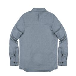 Stretch Chambray Workshirt in Midnight Navy - small view.