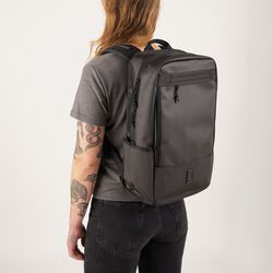 Hondo Backpack in Black Tarp - hi-res view.